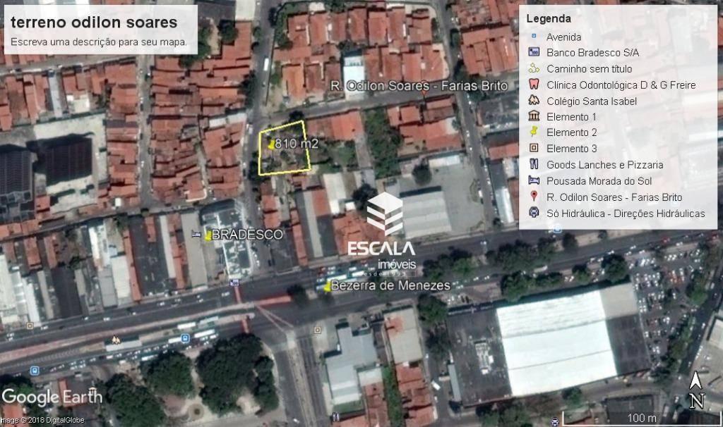 Terreno à venda, 810 m² por R$ 770.000 - Farias Brito - Fortaleza/CE