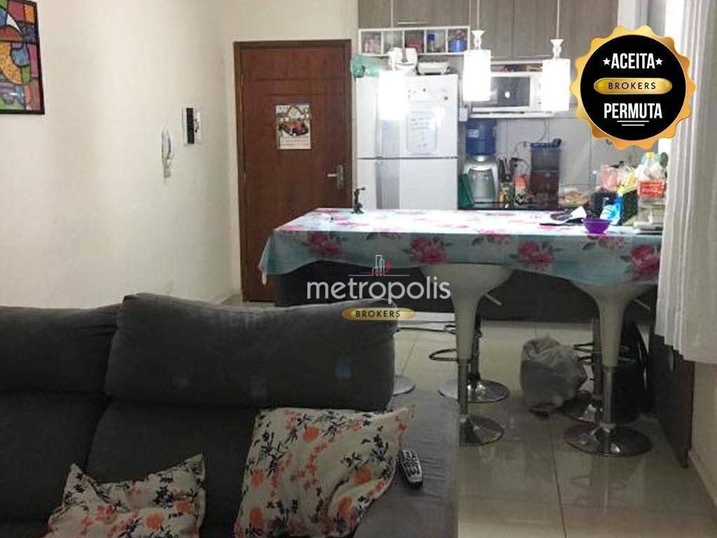 Apartamento com 2 dormitórios à venda, 50 m² por R$ 275.000 - Vila Camilópolis - Santo André/SP