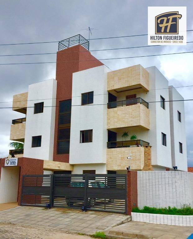 Apartamento com 2 dormitórios à venda, 58 m² por R$ 169.000 - Valentina de Figueiredo - João Pessoa/PB