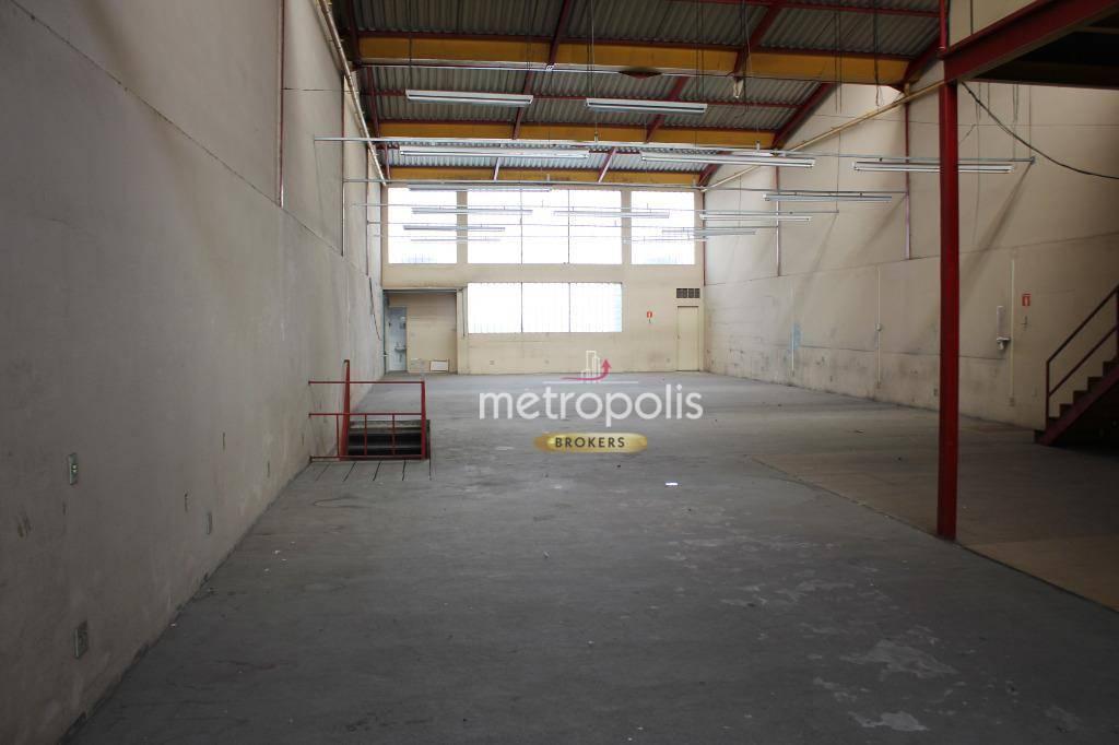 Galpão para alugar, 746 m² por R$ 15.000,00/mês - Cerâmica - São Caetano do Sul/SP