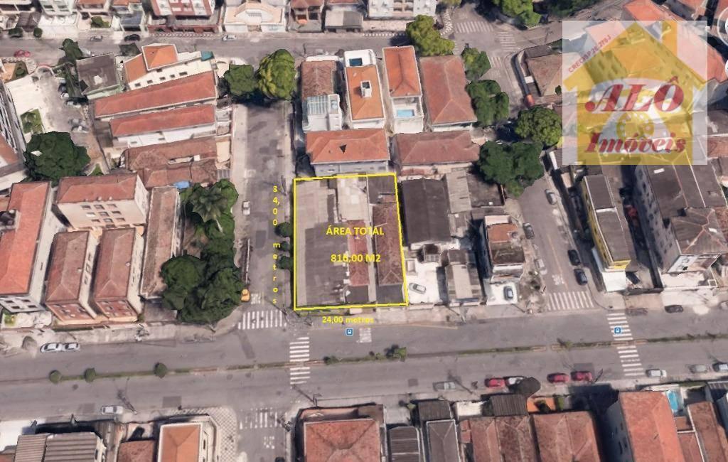 Terreno residencial para venda e locação, Ponta da Praia, Santos.