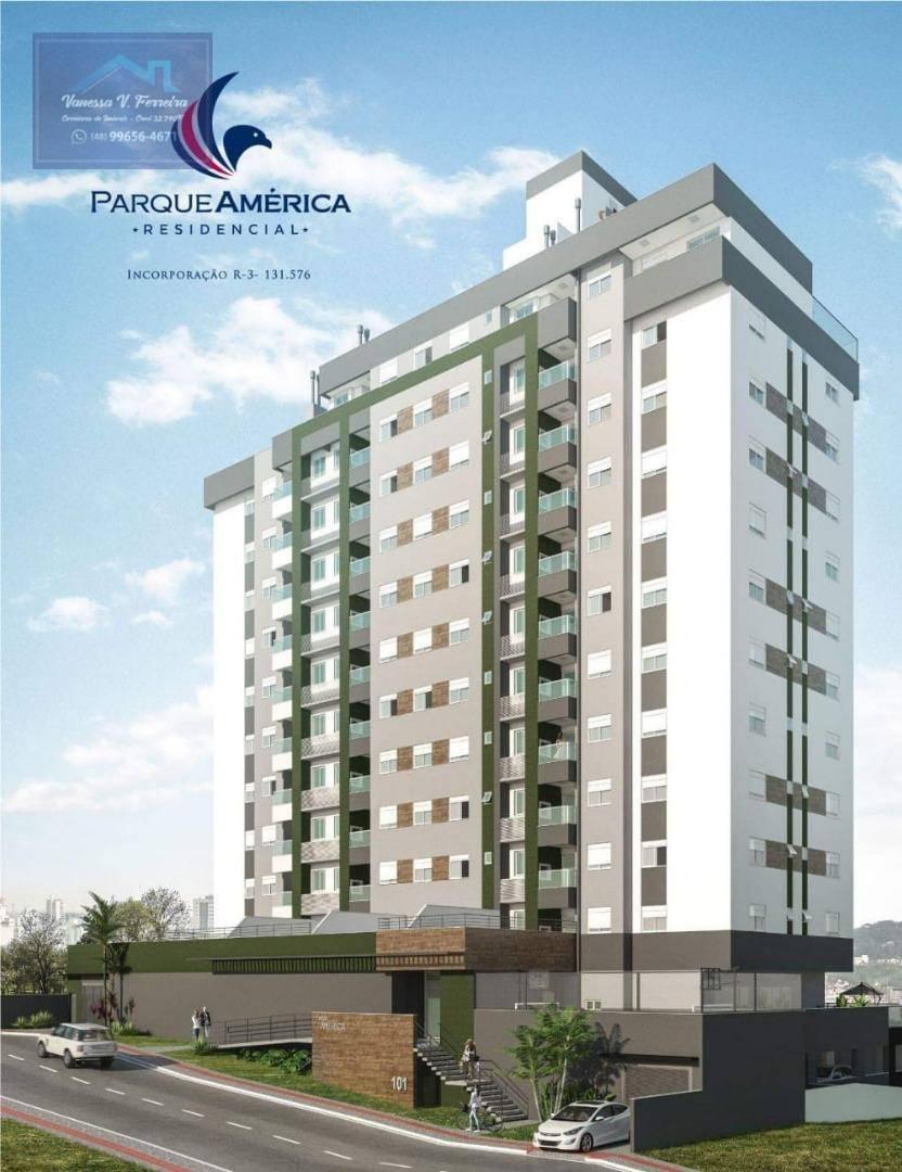 Apartamento com 2 dormitórios à venda por R$ 291.691 - Próspera - Criciúma/SC