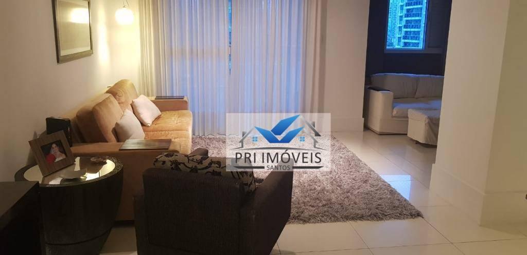Apartamento à venda, 120 m² por R$ 970.000,00 - Boqueirão - Santos/SP