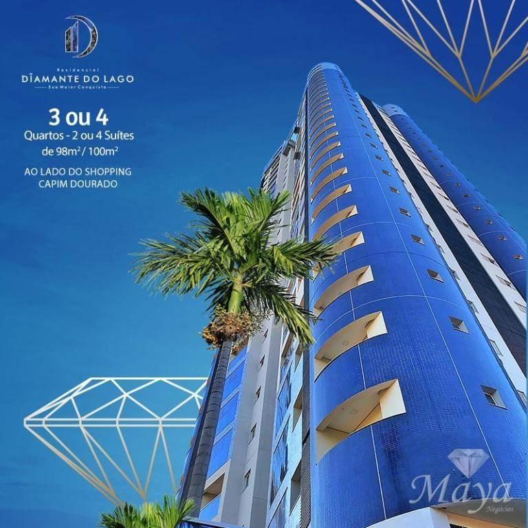 Apartamentos 3 Suítes, 98 e 100 m² na 107 Norte - Diamante do Lago