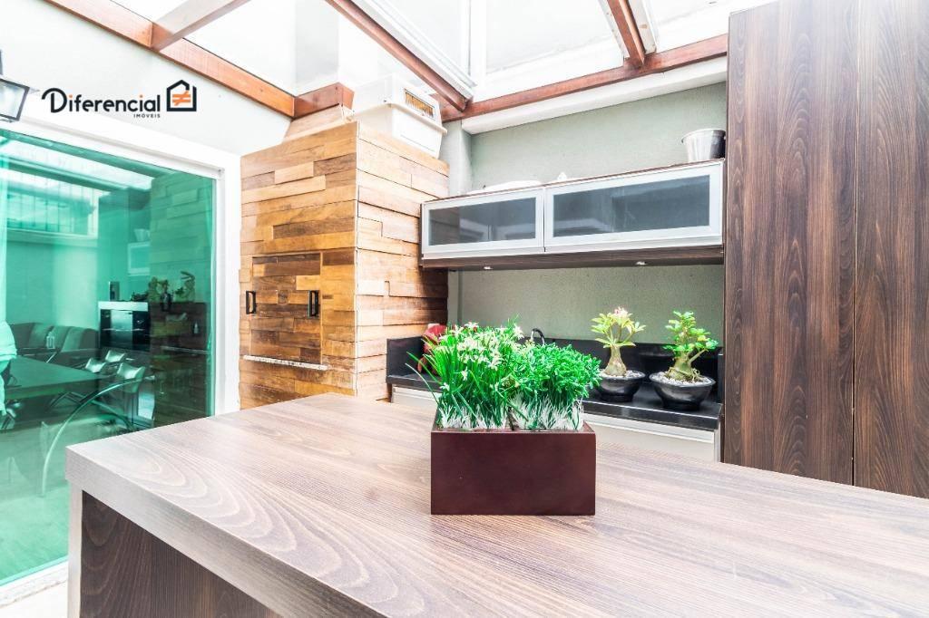 Sobrado com 4 dormitórios à venda, 192 m² por R$ 749.000,00 - Campina do Siqueira - Curitiba/PR