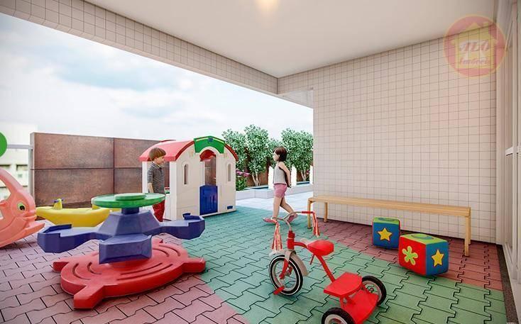 Apartamento com 3 dormitórios à venda, 86 m² por R$ 649.439 - Vila Alzira - Guarujá/SP