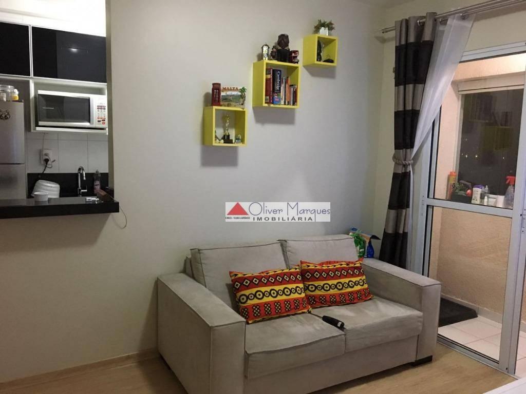 Apartamento com 2 dormitórios para alugar, 50 m² por R$ 1.100,00/mês - Conceição - Osasco/SP