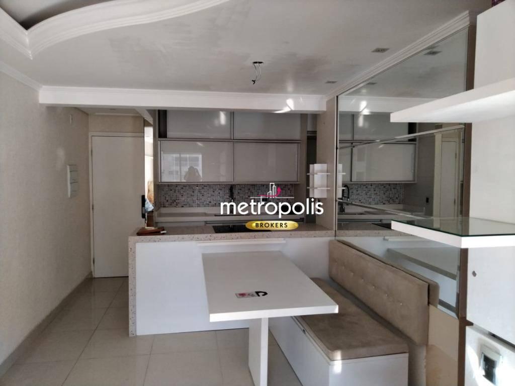 Apartamento com 3 dormitórios à venda, 64 m² por R$ 370.000 - Campestre - Santo André/SP