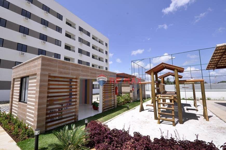Apartamento com 2 dormitórios à venda, 52 m² por R$ 155.000,00 - Passagem de Areia - Parnamirim/RN