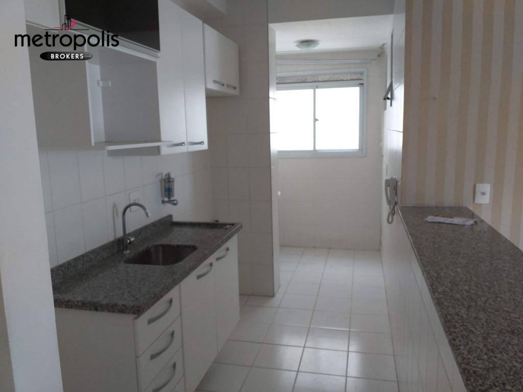 Apartamento com 3 dormitórios para alugar, 64 m² por R$ 1.500/mês - Campestre - Santo André/SP