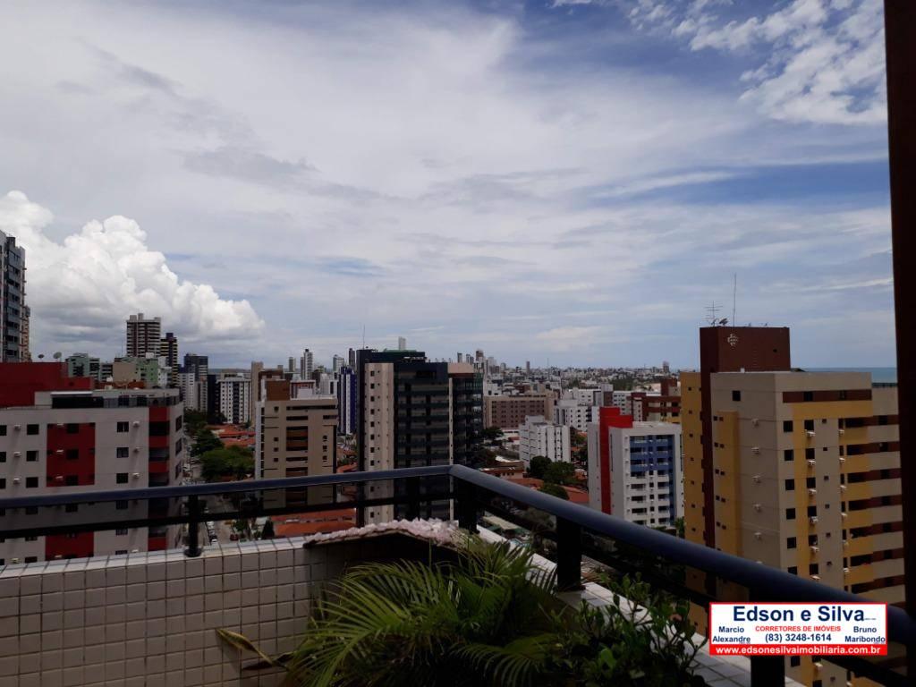Cobertura com 3 dormitórios à venda, 195 m² - Manaíra - João Pessoa/PB