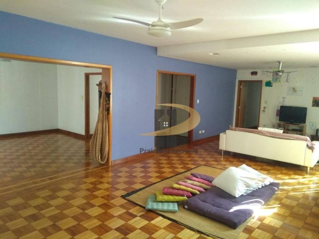 Apartamento com 4 dormitórios para alugar, 297 m² por R$ 4.000,00/mês - Boqueirão - Santos/SP