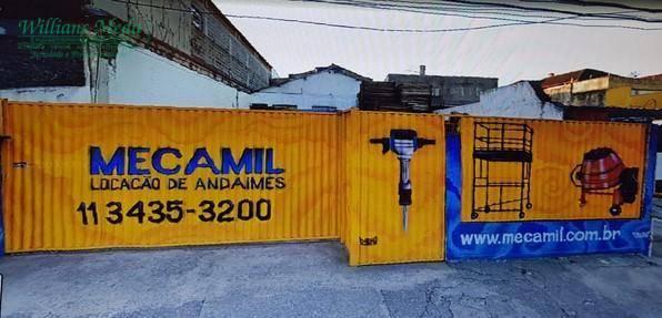 Terreno para alugar, 250 m² por R$ 2.000,00/mês - Centro - Guarulhos/SP