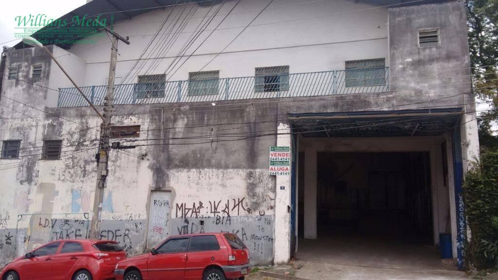 Galpão comercial para venda e locação, Vila São Paulo, Guarulhos.