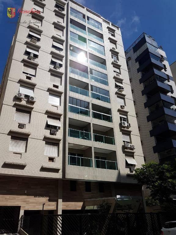 Apartamento com 2 dormitórios à venda por R$ 650.000 - Aparecida - Santos/SP