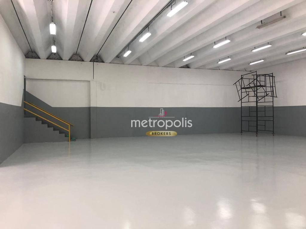 Galpão industrial para alugar, 689 m² por R$ 14.580/mês - Centro - São Caetano do Sul/SP
