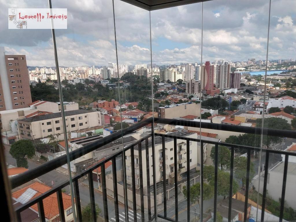 Apartamento com 1 dormitório para alugar, 63 m² por R$ 1.500/mês - Vila Valparaíso - Santo André/SP