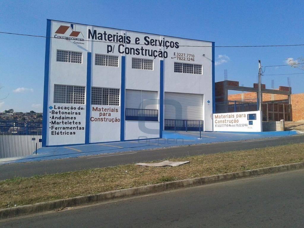 Barracão comercial para locação, Jardim Campos Elíseos, Campinas.