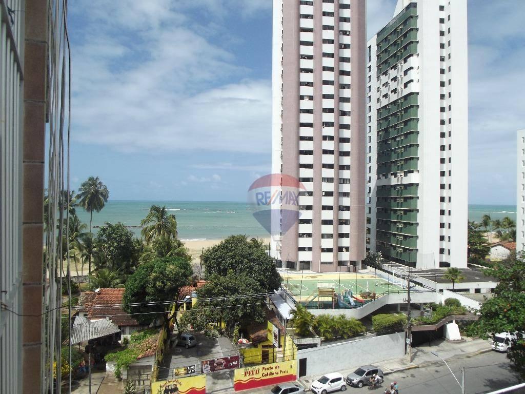 Apartamento com 2 dormitórios, dependencia completa, vista mar, na av. Bernardo Vieira deMelo
