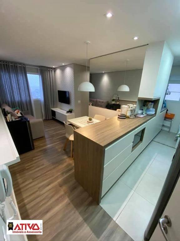 Apartamento com 2 dormitórios à venda, 44 m² por R$ 270.000,00 - Parque São Vicente - Mauá/SP