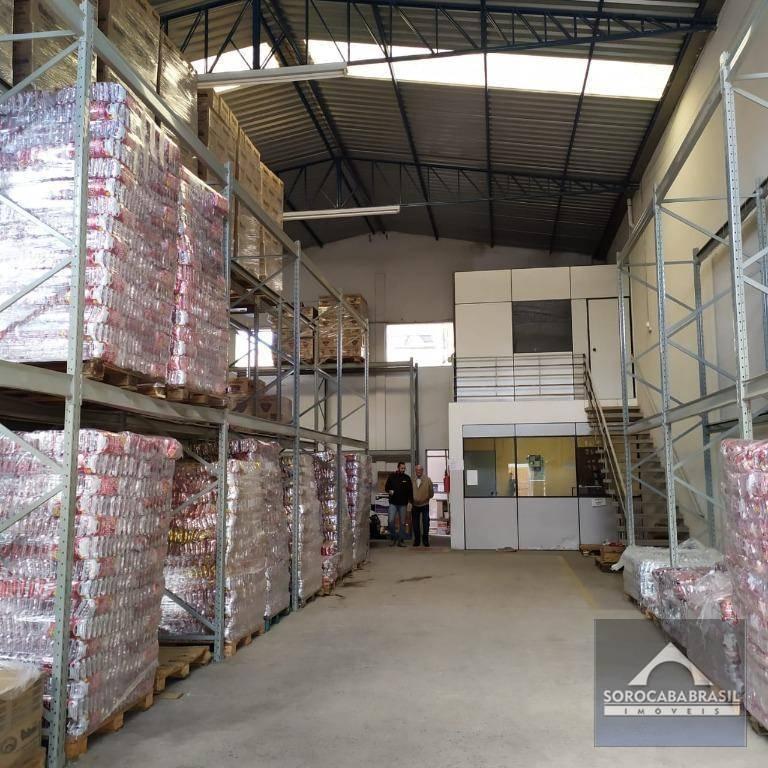 Galpão à venda, 300 m² por R$ 1.100.000 - Zona Industrial - Sorocaba/SP, Galpão já alugado com renda de $4.900,00 por mês.