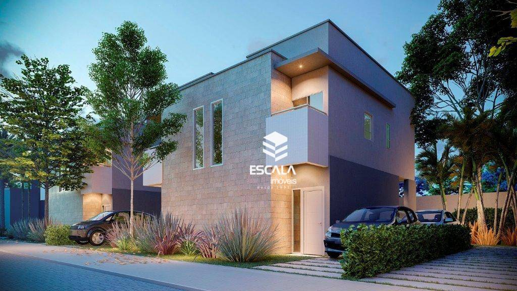 Casa duplex com 2 quartos à venda, 80 m², 2 suítes, 2 vagas, área de lazer, financia - Paumirim - Caucaia/CE