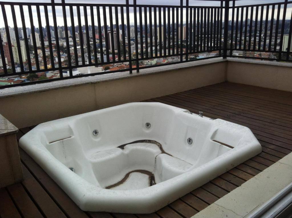 Cobertura duplex à venda, 265 m², 3 suítes, piscina e 5 vagas. Vila Pires, Santo André.