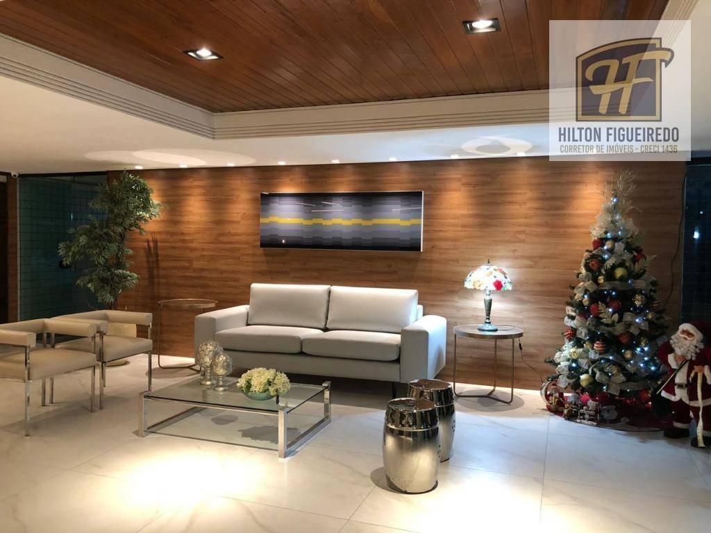 Apartamento com 4 dormitórios à venda, 129 m² por R$ 465.000 - Manaíra - João Pessoa/PB