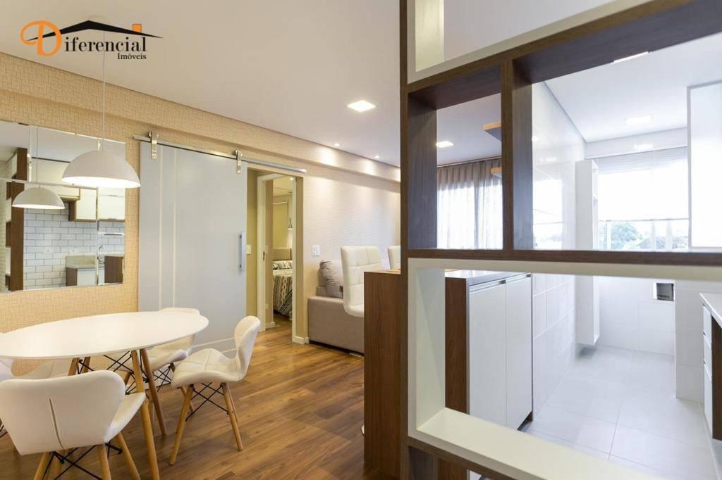 Apartamento com 2 dormitórios à venda, 60 m² por R$ 430.000,00 - Portão - Curitiba/PR