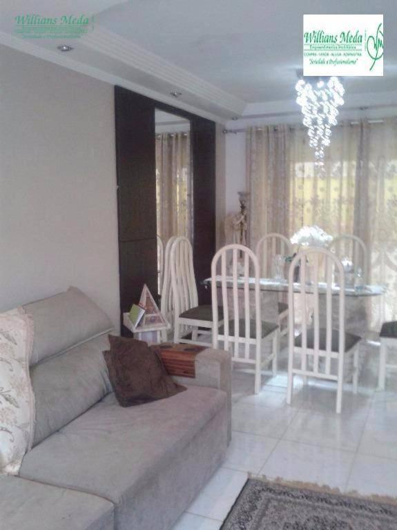 Sobrado 3 dormitórios, sendo 1 suíte, 2 vagas- Parque Renato Maia, Guarulhos - SO1247.