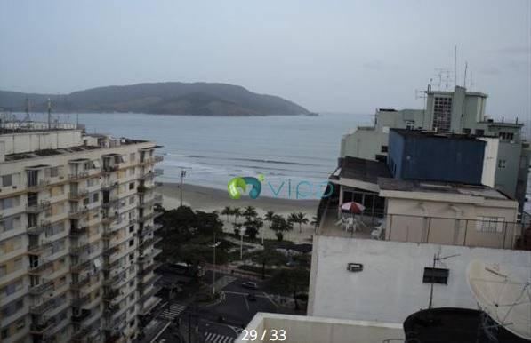 Litoral - Santos - Boqueirão - Amplo apartamento ao lado da Praia e Vista para o mar com 2 Dorms e 2 Banheiros  Aceita Permuta