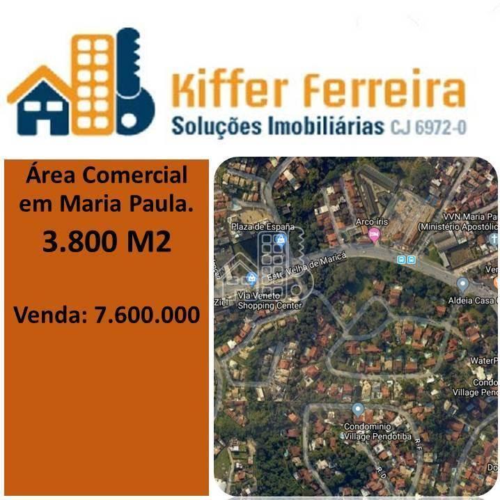 Área à venda, 3800 m² por R$ 7.600.000,00 - Maria Paula - São Gonçalo/RJ