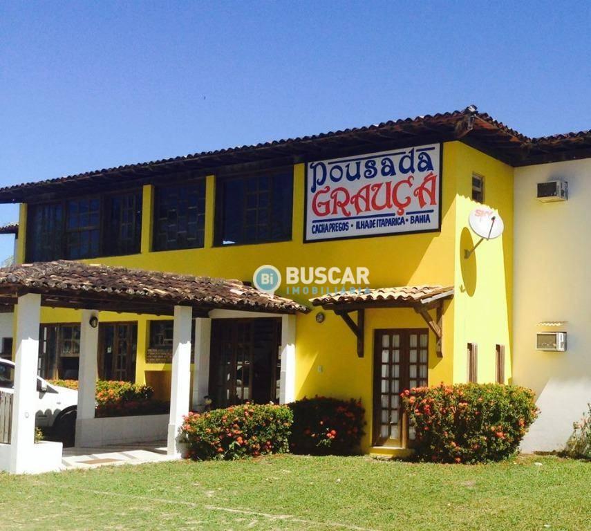 Pousada com 12 dormitórios à venda, 638 m² por R$ 1.500.000 - Morro de São Paulo - Cairu/Bahia
