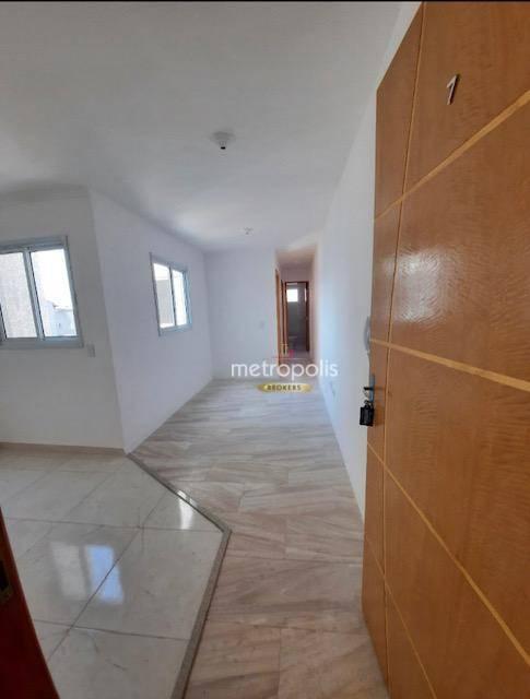 Cobertura com 2 dormitórios para alugar, 72 m² por R$ 1.200,00/mês - Vila Tibiriçá - Santo André/SP