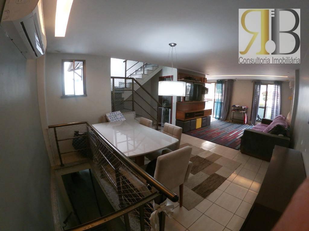 Casa de condomínio na Freguesia : 4 suítes e salão à venda, 253 m² por R$ 900.000 - Freguesia (Jacarepaguá) - Rio de Janeiro/RJ