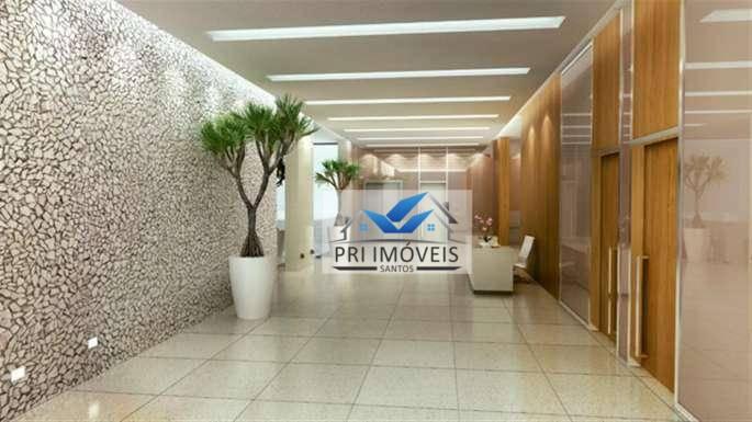 Sala à venda, 43 m² por R$ 215.000 - Valongo - Santos/SP